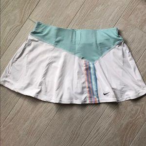 Nike skort white and mint green